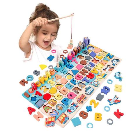 לוח מונטסורי צעצועי עץ